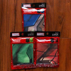 3x Marvel Comics Neck + Face Gaiters Mask